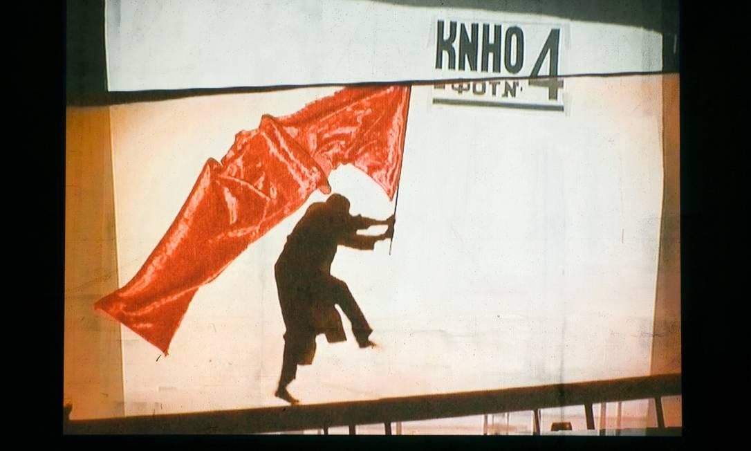 Cena da videoinstalação do sul-africano William Kentridge, que será inaugurada em 1º de outubro Foto: Divulgação