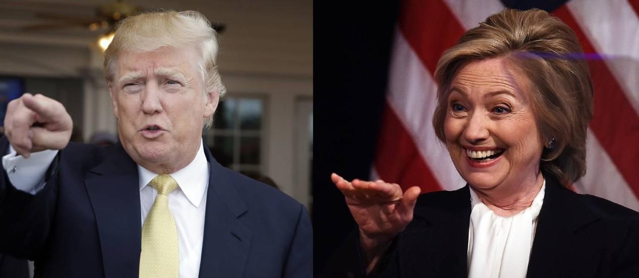 Republicano e Democrata lideram as pesquisas com diferença de seis pontos Foto: Seth Wenig / AP / Reuters
