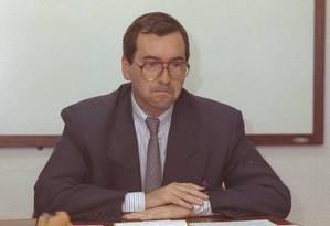 Na foto, Eduardo Cunha no cargo de presidente da Cehab, em 2000 Foto: Carlos Ivan / carlos ivan/27-4-2000