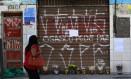 Bar teve oito das 18 mortes registradas no massacre Foto: Clayton de Souza / Clayton de Souza/Estadão Conteúdo