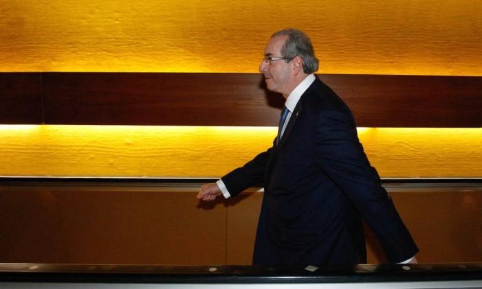 """O deputado Eduardo Cunha, presidente da Câmara, chama de """"suposição"""" denúncia por corrupção e lavagem de dinheiro Foto: André Coelho / Agência O Globo"""