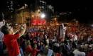 Ato em favor de Dilma no Rio Foto: Marcelo Piu