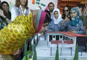 Malala durante seu aniversário de 18 anos Foto: REUTERS
