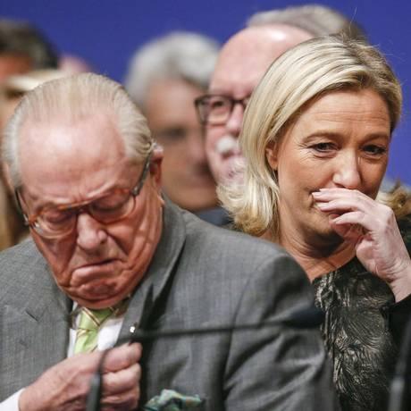 Jean-Marie Le Pen e sua filha, Marine Foto: ROBERT PRATTA / REUTERS