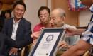 Com 112 anos, Yasutaro Koide recomendou que as pessoas evitem bebidas alcoólicas e o tabaco Foto: Divulgação