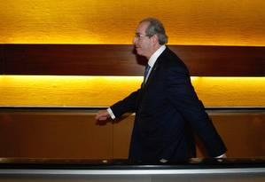 O deputado Eduardo Cunha, presidente da Câmara, foi denunciado por corrupção e lavagem de dinheiro Foto: André Coelho / Agência O Globo