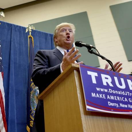 Com discurso vago e agressivo, Trump consolida vantagem Foto: Mary Schwalm / AP
