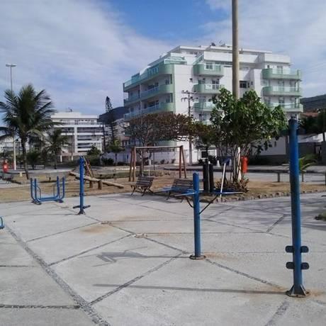 Em Piratininga, os aparelhos de ginástica foram retirados para manutenção: secretaria promete retorno. Foto: Foto do leitor