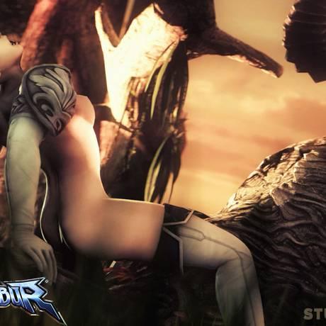 """Cassandra, de """"Soul Calibur"""", é uma das personagens que ganhou cenas quentes pelos produtores do StudioFOW Foto: REPRODUÇÃO"""
