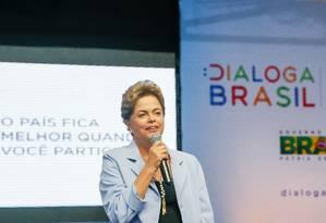 Presidente Dilma Rousseff durante o Dialoga Brasil em Pernambuco Foto: Roberto Stuckert Filho/PR