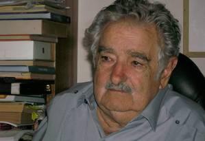 Ex-presidente do Uruguai, José Mujica virá ao Rio de Janeiro no dia 27 de agosto, porém evento aberto ao público que ocorreria à noite está sendo mopdificado por causa da grande repercussão Foto: Sergio Flaksman / Agência O Globo