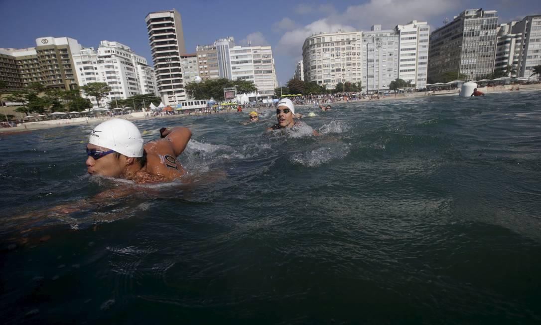 Visual do posto seis da praia de Copacabana onde ocorre a largada da competição RICARDO MORAES / REUTERS
