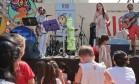 O musical infantil 'ABC do Braguinha' animou a criançada na tarde de domingo, no Jockey Foto: Cecilia Acioli / O Globo