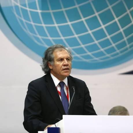 O secretário-geral da OEA, o uruguaio Luis Almagro Foto: ERIKA SANTELICES / AFP 23/08/2015