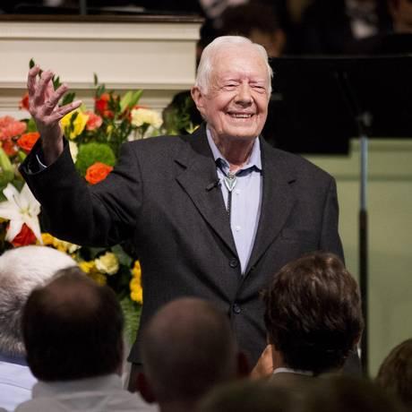 Jimmy Carter pregou para 300 pessoas Foto: David Goldman / AP