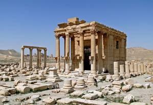 Templo de Baal Shamin, em Palmira, na Síria. Estado Islâmico explodiu construção da era romana Foto: Bernard Gagnon / Wikimedia Commons