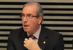 O presidente da Câmara, Eduardo Cunha Foto: Marcos Alves / O Globo