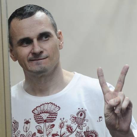 Sentsov recebeu apoio do país natal, dos EUA e de diretores europeus Foto: AP