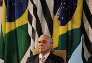 O vice-presidente Michel Temer Foto: Michel Filho/06-08-2015 / Agência O Globo