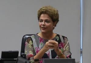 A Presidente Dilma Rousseff Foto: André Coelho / Agência O Globo