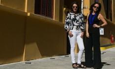 Na Vila Aymoré. Patricia Mayer e Patrícia Quentel, sócias do Casa Cor Foto: Bruno Ryfer / Divulgação