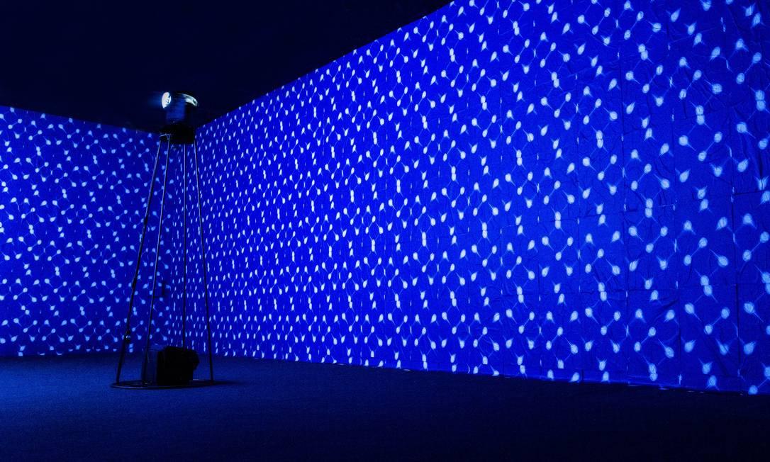 'Ultramarino', instalação de Vicente de Mello no CCBB Foto: / Divulgação