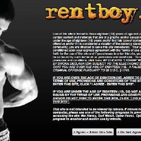 Site oferece serviços de acompanhantes e massagistas masculinos Foto: REPRODUÇÃO