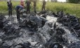 Restos de um bombardeiro soviético encontrados na Polônia