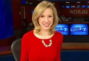 Alison Parker, repórter do canal de TV americano WDBJ, foi assassinada em entrevista ao vivo na manhã desta quarta-feira. Foto: Reprodução