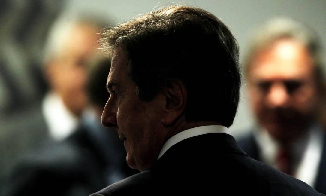Collor foi um dos primeiros parlamentares denunciados por Janot na Operação Lava-Jato, junto com o presidente da Câmara, Eduardo Cunha (PMDB-RJ) Foto: Jorge William / Agência O Globo