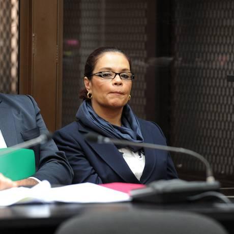 Ex-vice presidente da Guatemala Roxana Baldetti foi acusada de liderar um esquema de fraude fiscal junto com o presidente Otto Pérez Foto: ORLANDO SIERRA / AFP
