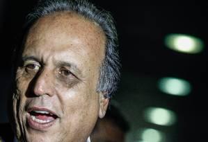 BRASIL - BRASÍLIA -BSB - 26/08/2015 - O governador do Rio de Janeiro Luiz Fernando Pezão em entrevista coletiva no Senado. FOTO ANDRE COELHO / Agencia O Globo Foto: ANDRE COELHO / Agência O Globo