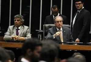 Eduardo Cunha preside sessão da Câmara dos Deputados Foto: Jorge William / Agência O Globo