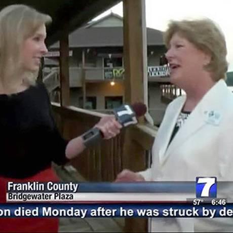 Vicki Gardner, de 62 anos, foi atingida nas costas por um tiro em ataque ao vivo na TV americana. Foto: Reprodução