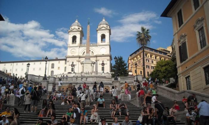 Piazza di Spagna, em Roma Foto: Carla Rocha / Agência O Globo