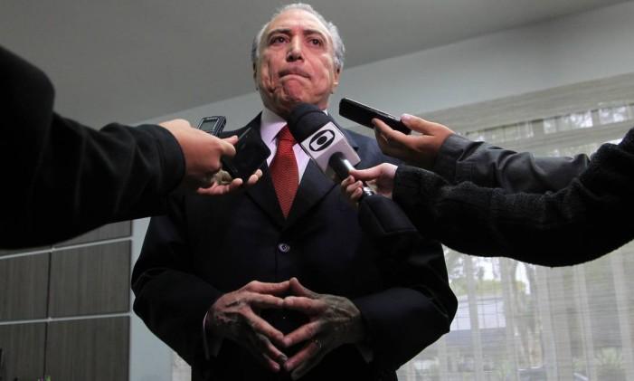 O vice-presidente Michel Temer Foto: Marcos Alves / Agência O Globo