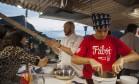 O chef Arthur Sauer comandou o Espaço Friboi Foto: Adriana Lorete / O Globo