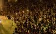 Público assiste à fala do ex-presidente uruguaio Jose Mujica na concha acústica da Uerj, no Rio de Janeiro