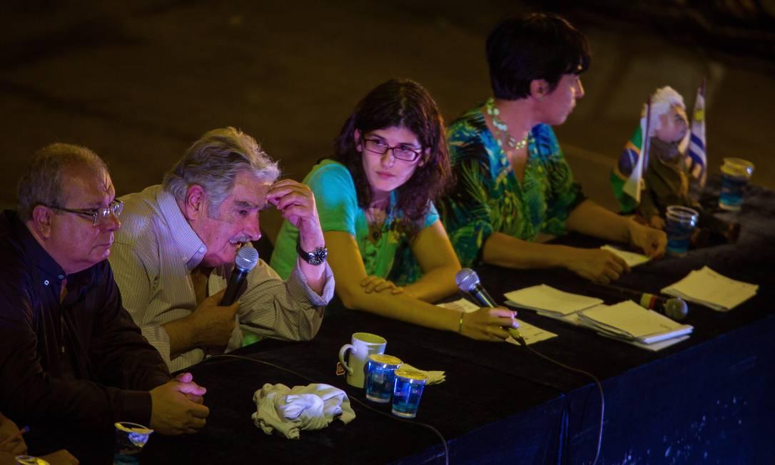 O ex-presidente uruguaio, José Mujica, na UERJ, no Rio de Janeiro Daniel Marenco / Agência O Globo