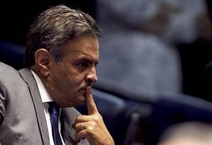 O senador Aécio Neves Foto: Jorge William / Agência O Globo
