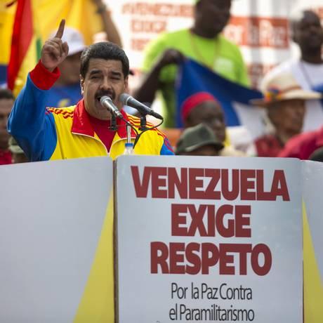 Nicolas Maduro anunciou medida durante discurso inflamado em Caracas Foto: STRINGER/VENEZUELA / REUTERS