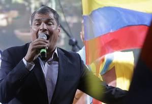 O presidente do Equador, Rafael Correa, alvo de protestos Foto: Dolores Ochoa / AP/13-8-2015