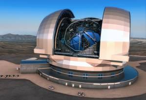 Ilustrações mostra como deverá ser o E-ELT Foto: Divulgação/ESO / ESO/L. Calçada
