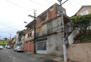 A casa de Andreia Bastião, endereço usado como fachada de empresa envolvida na operação lava-jato. Foto: Agência O Globo / Marcos Alves