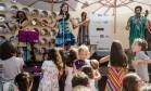 A Farra dos Brinquedos atraiu o público infantil para o Jockey na tarde deste domingo Foto: Adriana Lorete / Agência O Globo