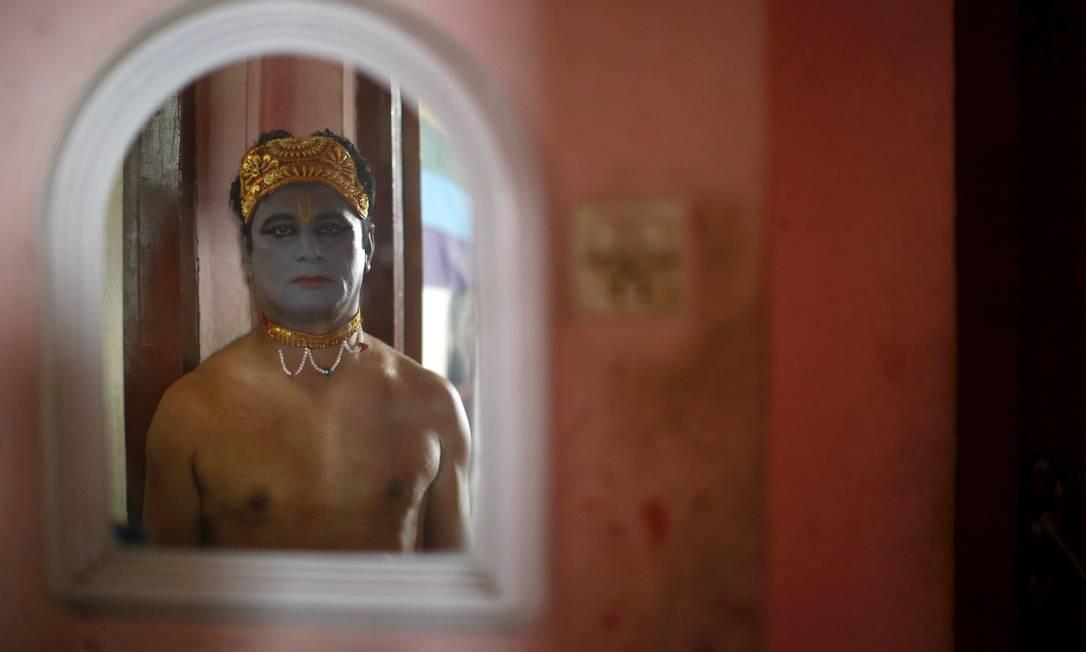 Fantasia inspirada em Krishna NAVESH CHITRAKAR / REUTERS