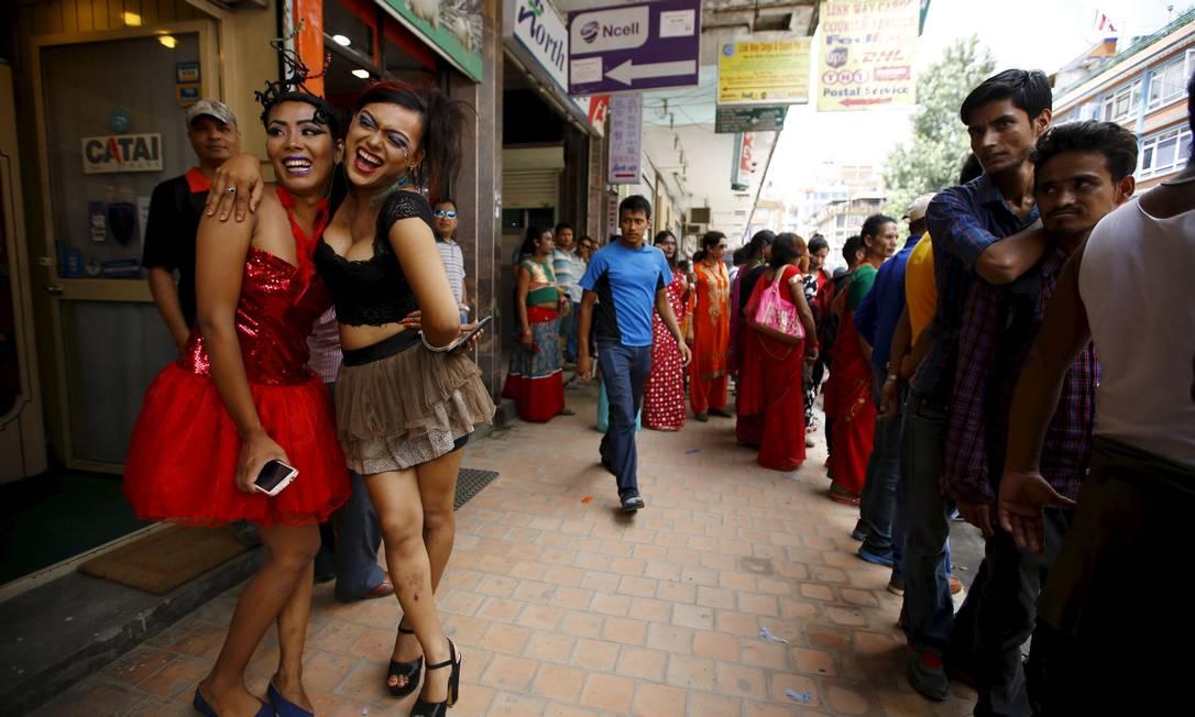 Ativistas também pediram o fim da discriminação NAVESH CHITRAKAR / REUTERS