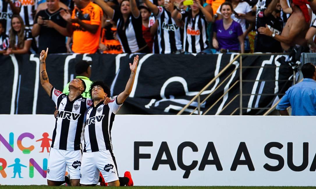 O Galo saiu na frente no primeiro tempo, com gol de Giovanni Augusto Guilherme Leporace / Agência O Globo