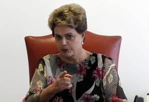 A presidente Dilma Rousseff Foto: Givaldo Barbosa/24-8-2015