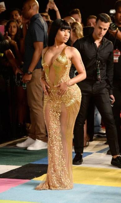 Nicki Minaj impressionou com seu look cheio de sensualidade Frazer Harrison / AFP